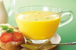 「クノール カップスープ」冷たい牛乳でつくる 栗かぼちゃのポタージュ