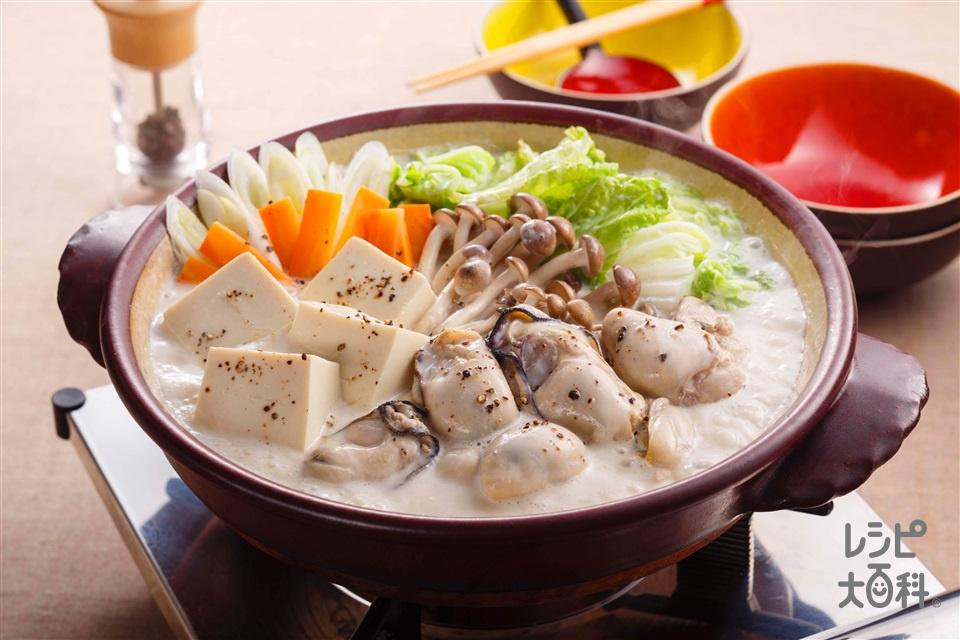 かきのクリーム鍋(かき(むき身)+白菜を使ったレシピ)