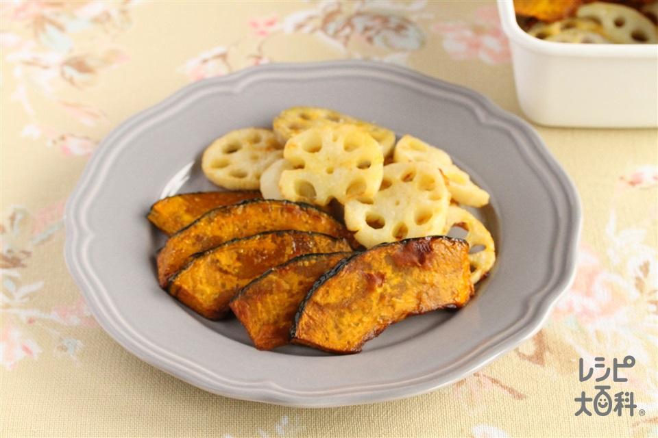 かぼちゃとれんこんの揚げ浸し(かぼちゃ+れんこんを使ったレシピ)