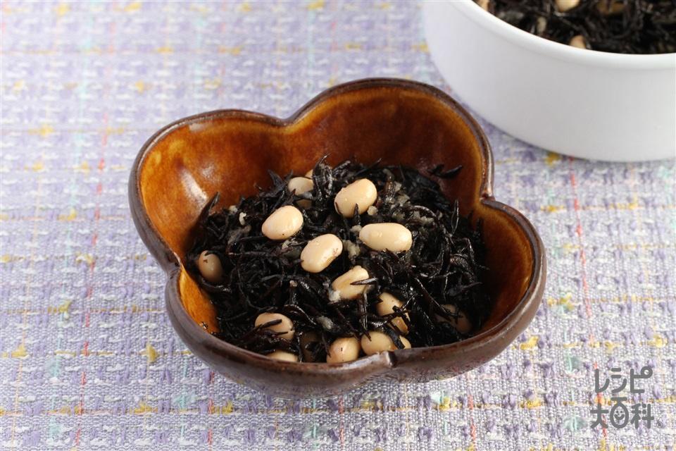 ひじきと大豆のサラダ(大豆の水煮+玉ねぎを使ったレシピ)