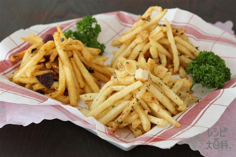 トスサラふりふりポテト(冷凍フライポテト+「Toss Sala」モッツァレラとトマトのイタリアンサラダ用を使ったレシピ)