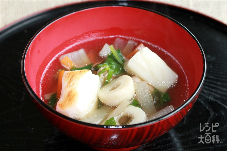 青森風雑煮(切り餅+鶏もも肉を使ったレシピ)