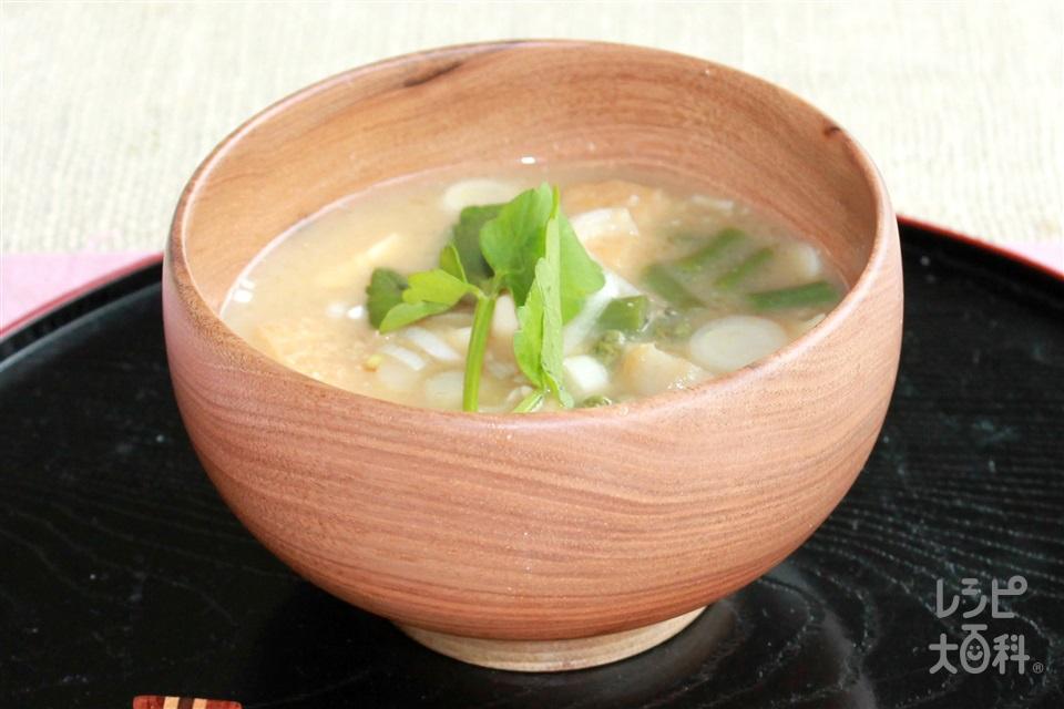 秋田風納豆汁(里いも+木綿豆腐を使ったレシピ)