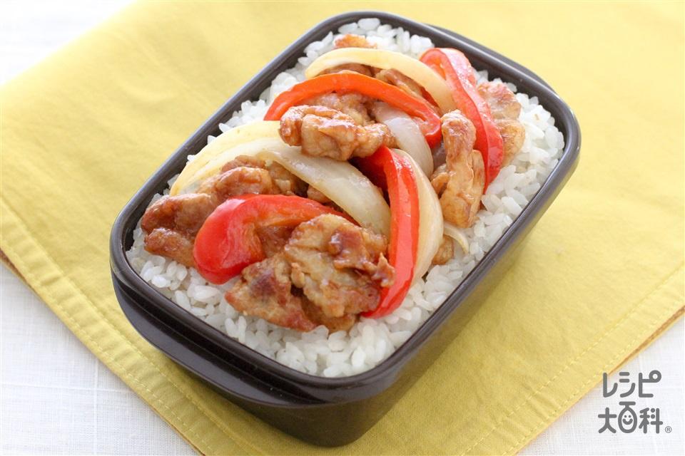 甘辛生姜焼き丼弁当(豚ロース薄切り肉+Aしょうがのすりおろしを使ったレシピ)