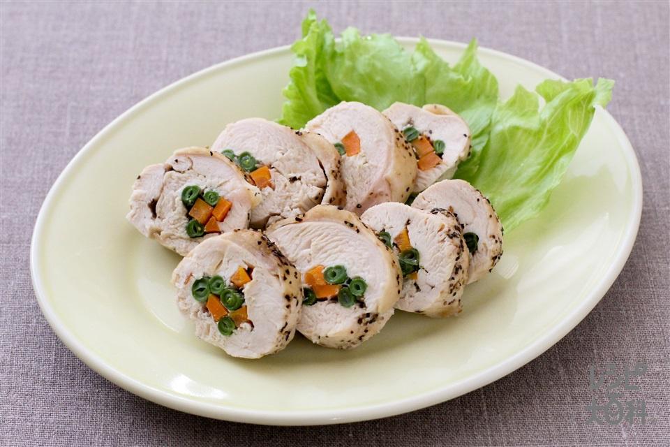 レンジチキンロール(鶏むね肉(皮つき)を使ったレシピ)