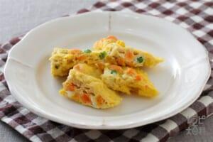 野菜とチーズのレンジオムレツ