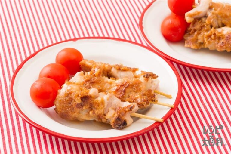 サテー風ピーナツバター焼き鳥