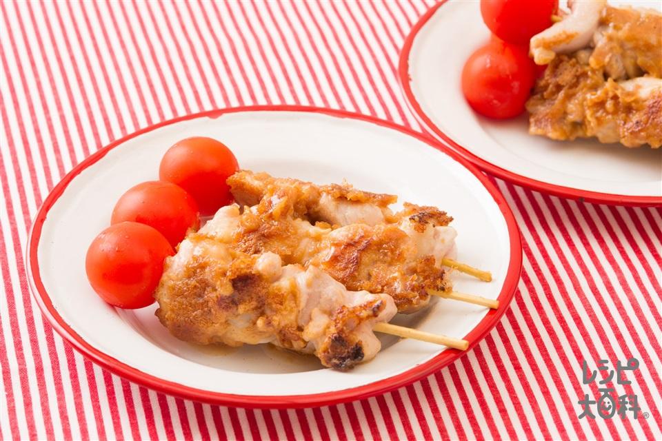 サテー風ピーナツバター焼き鳥(鶏もも肉+無糖のピーナッツバターを使ったレシピ)