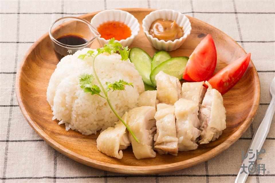 豆乳チキンライス(米+鶏もも肉を使ったレシピ)