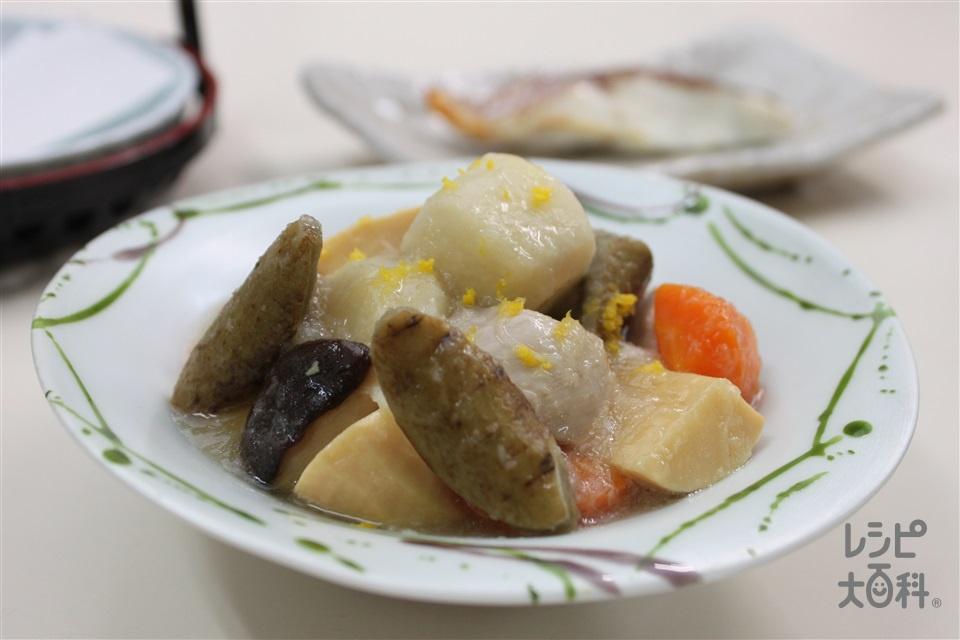 彩り野菜のおろし煮(里いも+かぶを使ったレシピ)