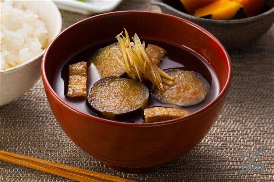 これぞ愛知県の旬の味!「なすと秋みょうがのみそ汁」(なす+みょうがを使ったレシピ)