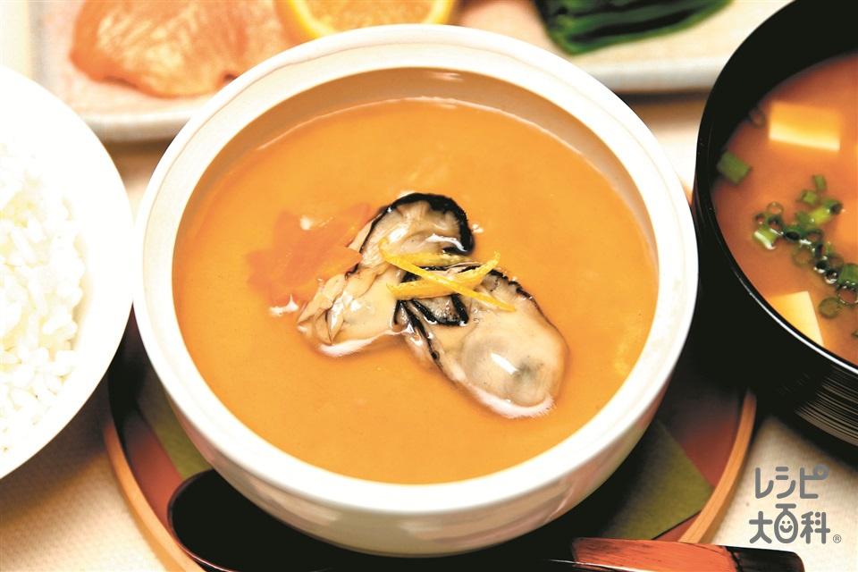 広島産かきのあんかけ茶碗蒸し(かき(むき身)+卵を使ったレシピ)