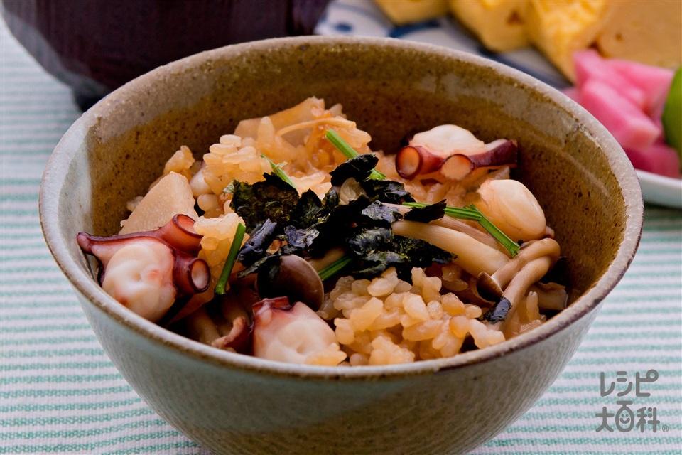 下津井産のマダコで作る やわらかたこ飯(米+生だこを使ったレシピ)