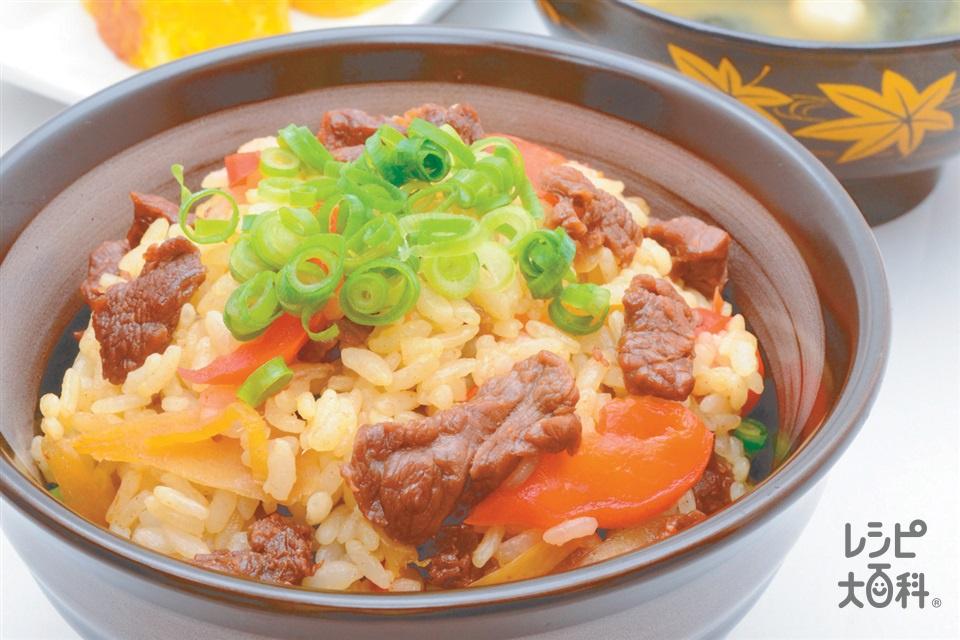 """""""うま""""い混ぜご飯(米+馬肉を使ったレシピ)"""
