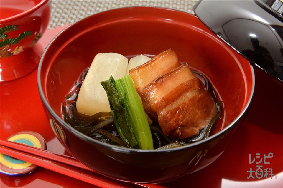 大煮 (方言名:ウーニー)(豚三枚肉+大根を使ったレシピ)