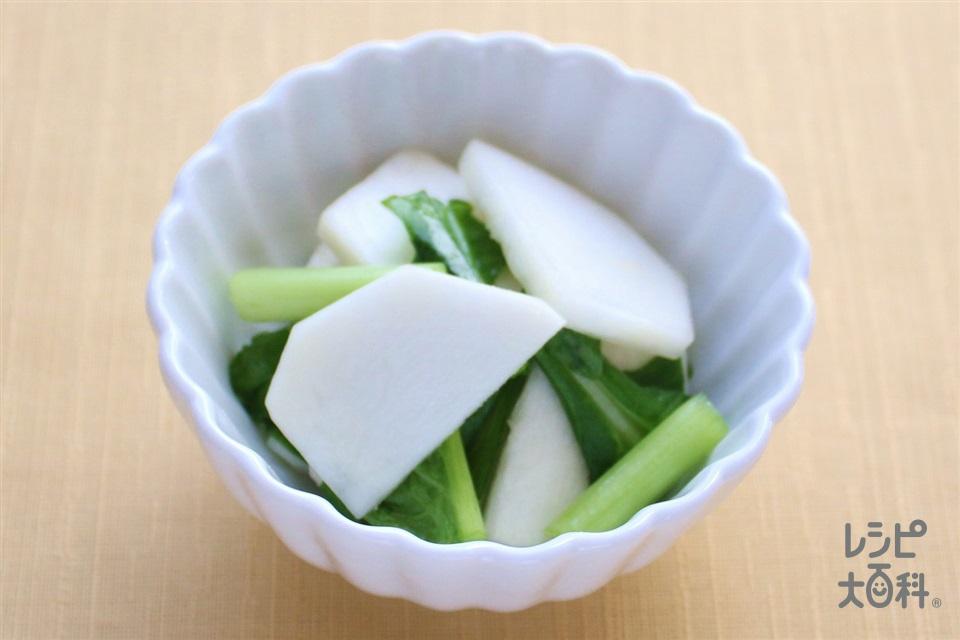 かぶの即席漬け(かぶ+かぶの葉を使ったレシピ)