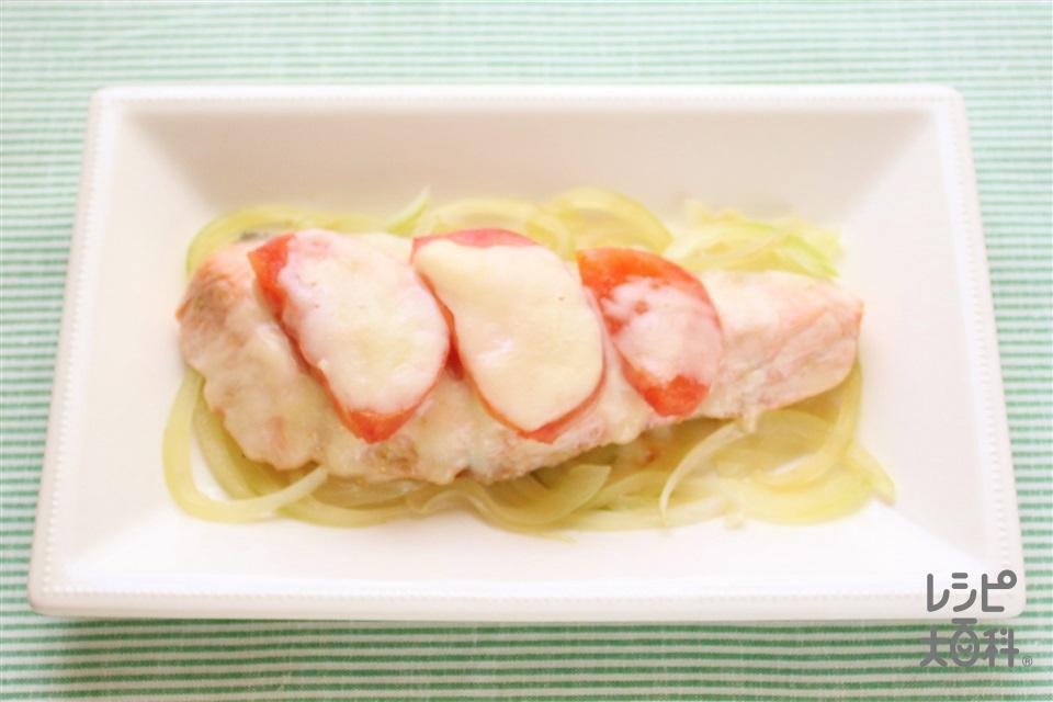 鮭のチーズ焼き(さけ+玉ねぎを使ったレシピ)