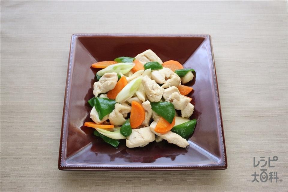 鶏むね肉と野菜の中華炒め(鶏むね肉+にんじんを使ったレシピ)