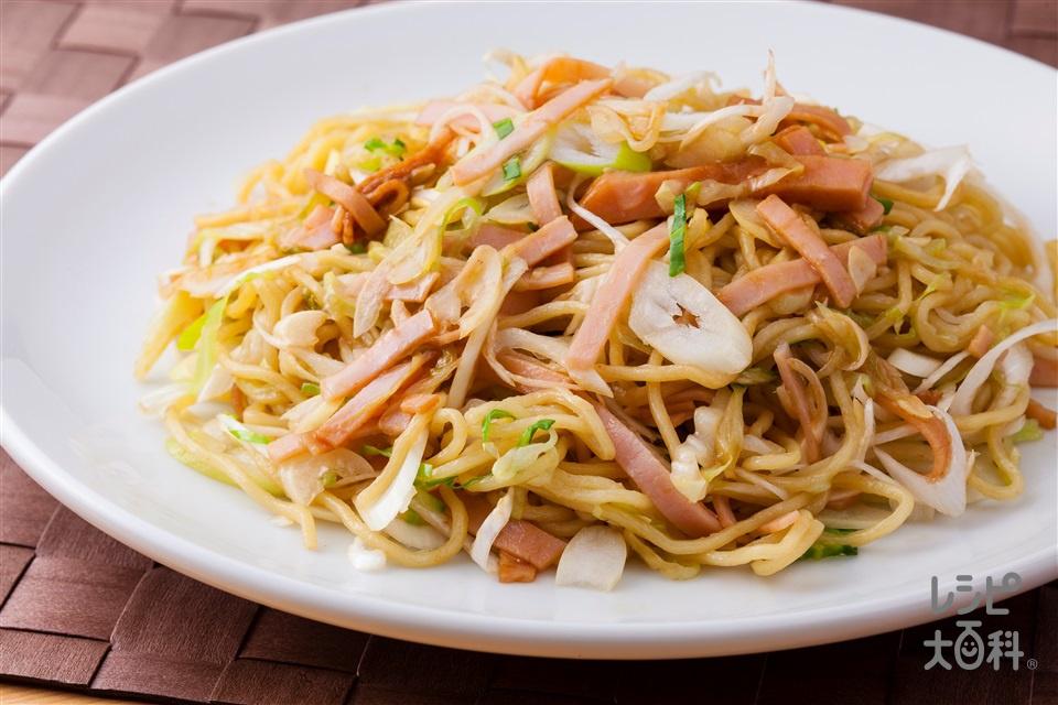 キャベネギ麺(中華めん+長ねぎを使ったレシピ)