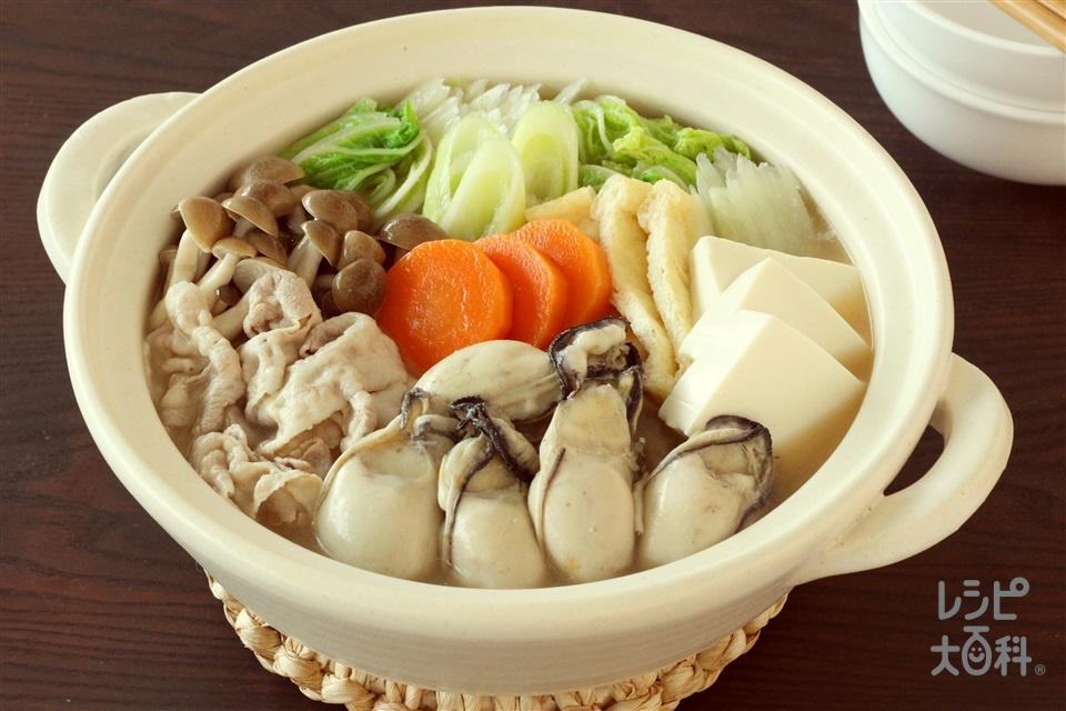 味わい!しょうゆ豆乳鍋(豚バラ薄切り肉+白菜を使ったレシピ)