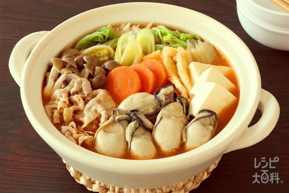 まろやか!キムチ豆乳鍋(豚バラ薄切り肉+白菜を使ったレシピ)