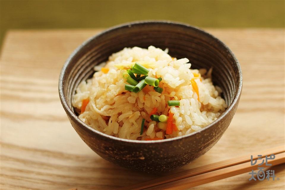 切干大根とツナの炊き込みご飯(米+ツナ油漬缶を使ったレシピ)