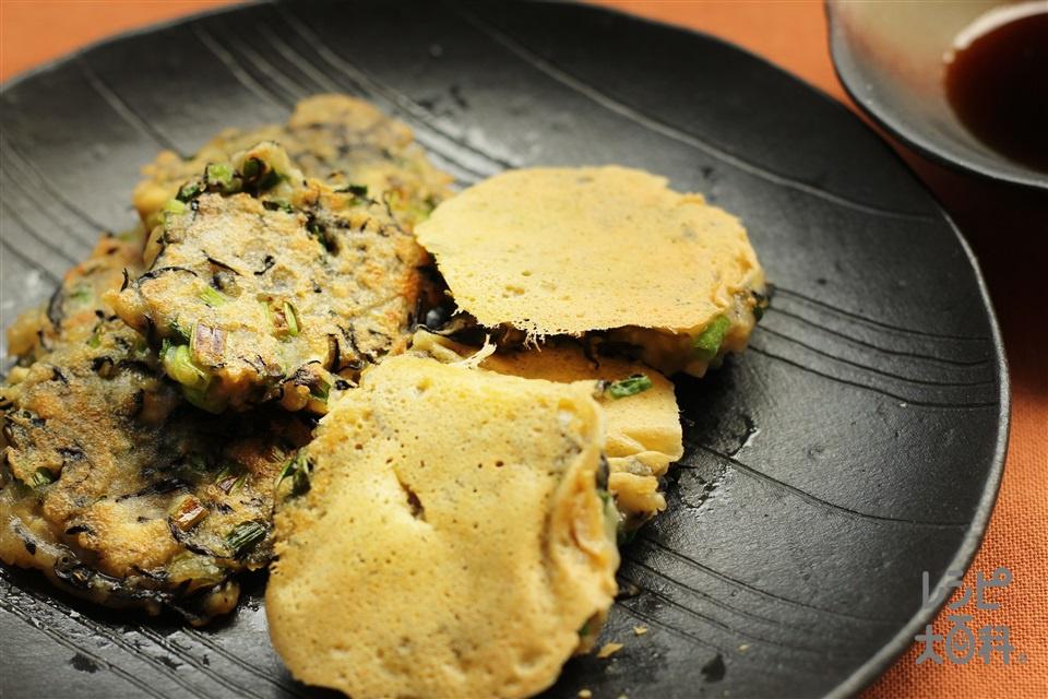 豆腐とひじきでお好み焼き(木綿豆腐+片栗粉を使ったレシピ)