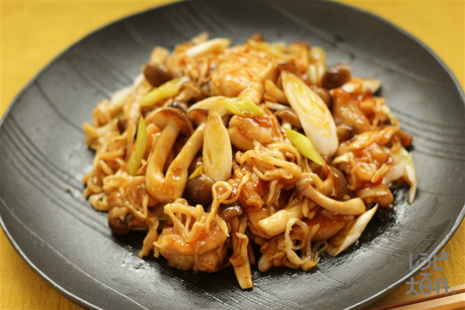 切干大根とガリバタ鶏(鶏もも肉+しめじを使ったレシピ)