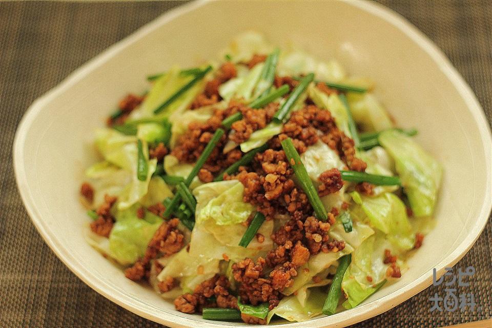 高野豆腐で肉みそキャベツ(豚ひき肉+キャベツを使ったレシピ)