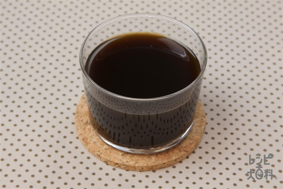 コーヒーゼリー(A水+Aインスタントコーヒーを使ったレシピ)