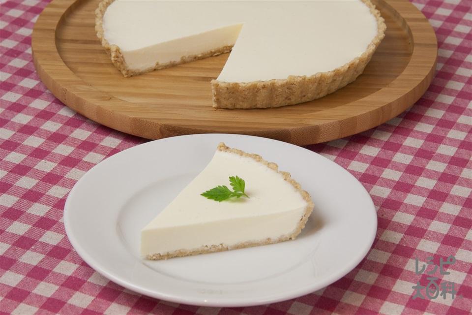 レアチーズケーキ(クリームチーズ+A水を使ったレシピ)