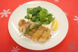 チキンのハーブソテー(鶏もも肉+ベビーリーフを使ったレシピ)