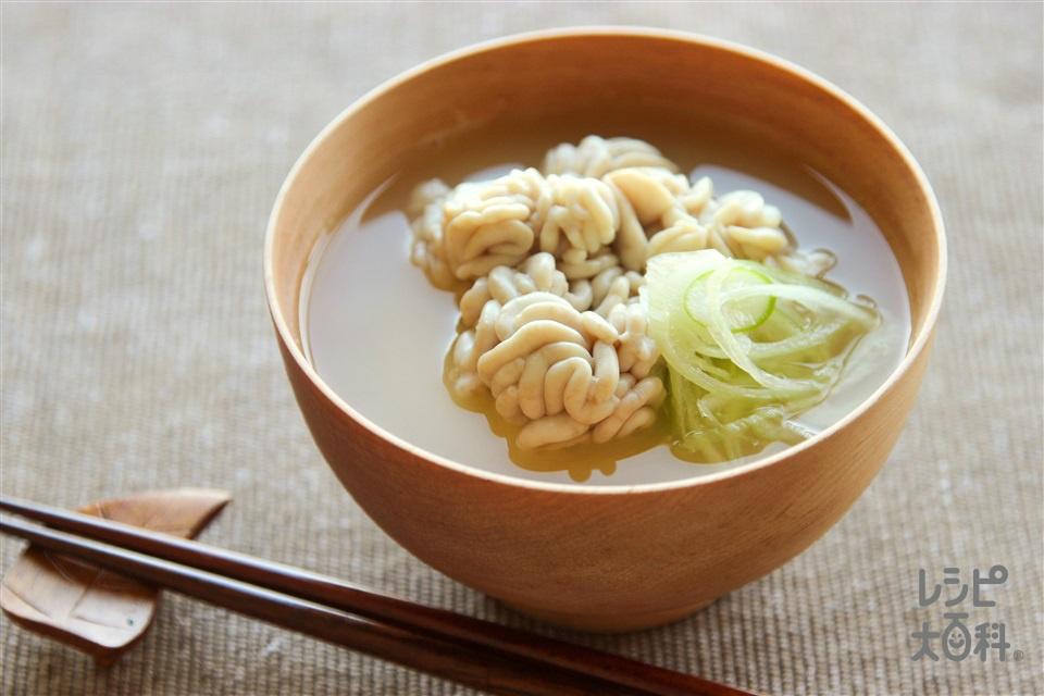 たち(白子)の味噌汁(白子+長ねぎを使ったレシピ)