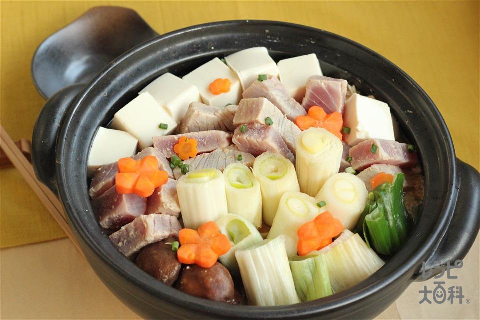 下仁田ねぎのねぎま鍋(まぐろ+ねぎを使ったレシピ)