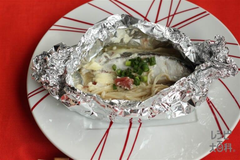 銀だらのマヨ蒸し梅干し風味(フライパン)