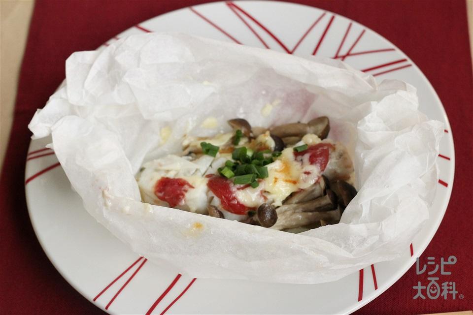 銀だらのマヨ蒸し梅干し風味(電子レンジ)(銀だら(切り身)+玉ねぎを使ったレシピ)