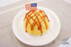 オムライス(ご飯+鶏もも肉を使ったレシピ)