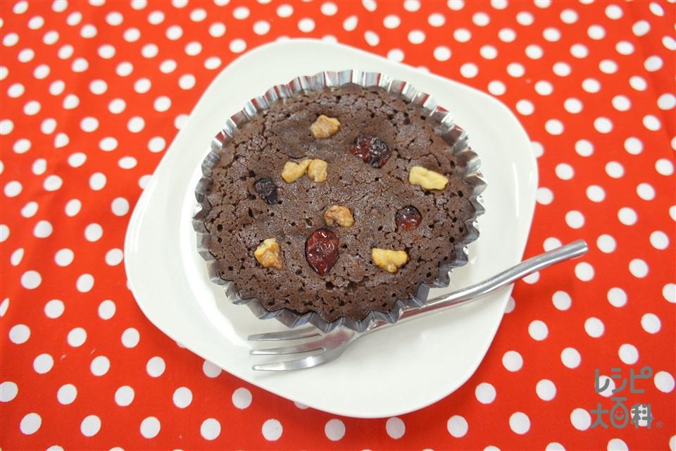 クランベリーとくるみのブラウニー(チョコレート+バター(食塩不使用)を使ったレシピ)