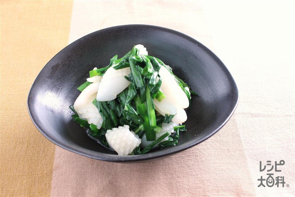 いかとニラの丸鶏ナムル(いか(胴)+にらを使ったレシピ)