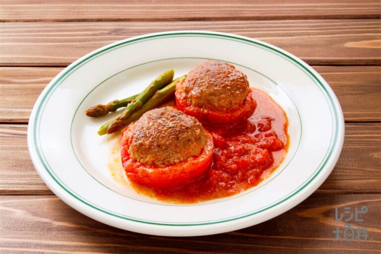 ダブルトマトのハンバーグ