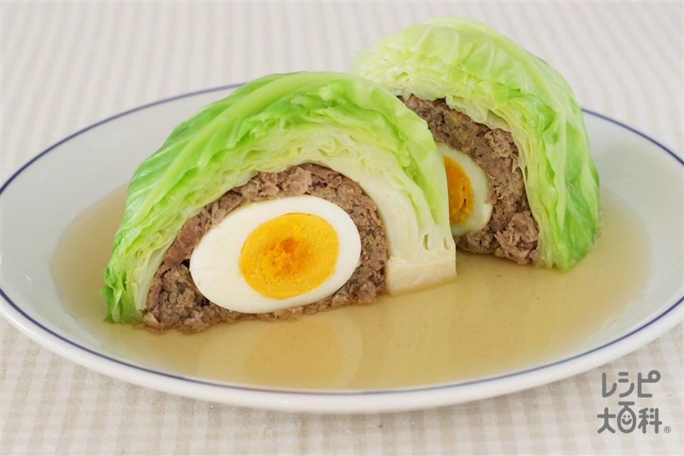 巻かないイースターロール(キャベツ+合いびき肉を使ったレシピ)