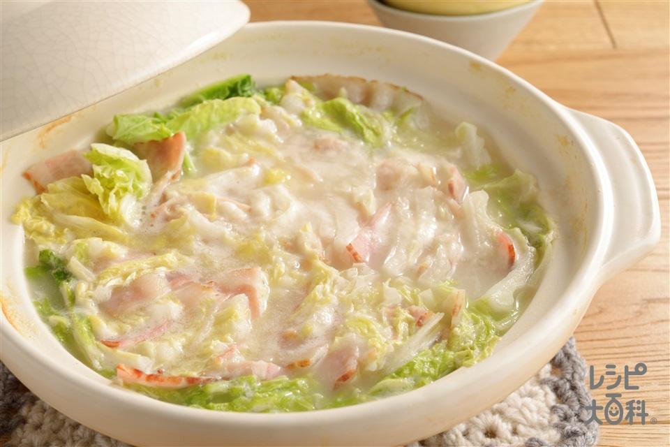 白菜とベーコンの重ね煮(白菜+ベーコンを使ったレシピ)