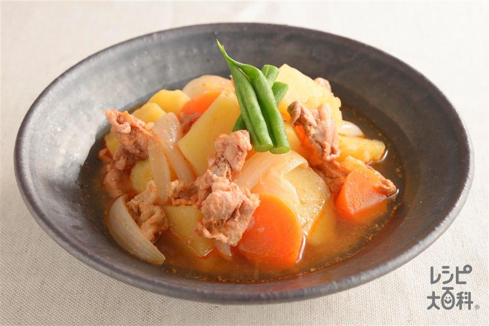 韓国風肉じゃが(豚こま切れ肉+じゃがいもを使ったレシピ)