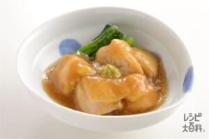 鶏肉のやわらか治部煮(鶏もも肉+小松菜を使ったレシピ)