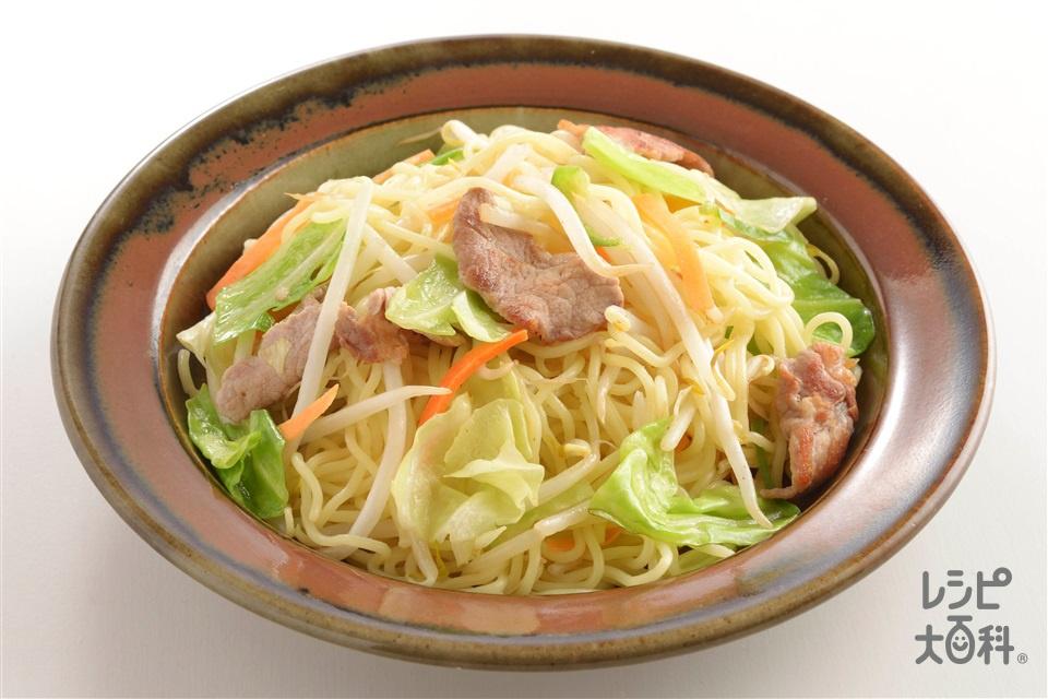 コクうま白湯焼きそば(中華めん+袋入りカット野菜(もやしミックス)を使ったレシピ)