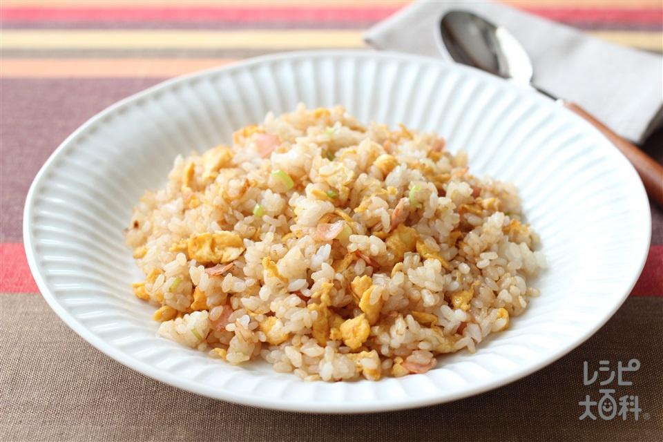 香ばし醤油チャーハン(ご飯+卵を使ったレシピ)