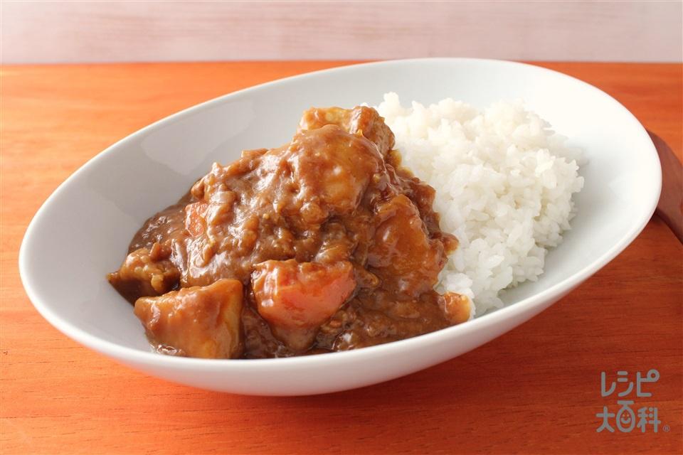 カレーライス(甜麺醤で隠し味)(豚肉+にんじんを使ったレシピ)