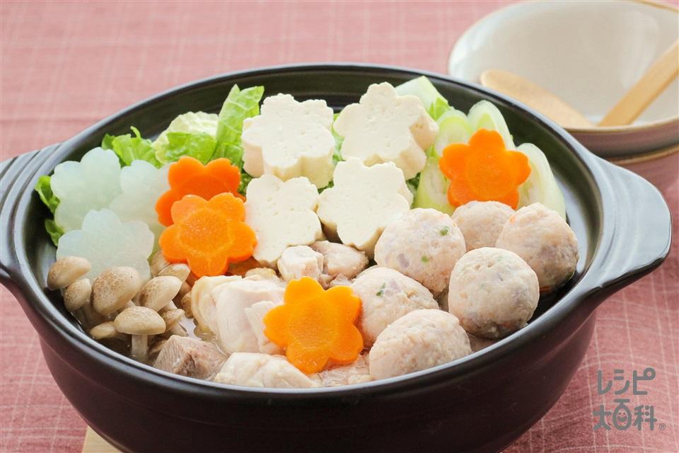 合格!鶏だし・うま塩鍋(鶏もも肉+鶏ひき肉を使ったレシピ)