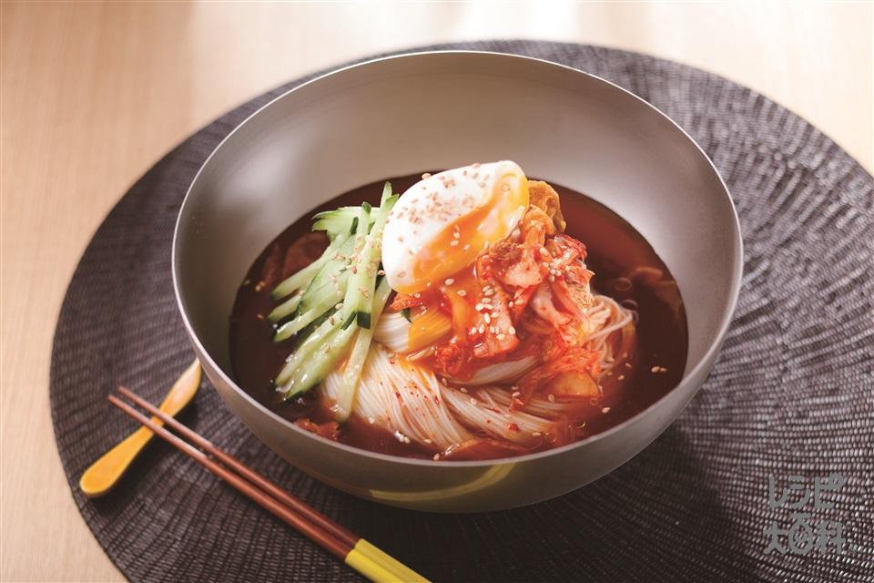 冷麺風キムチそうめん(そうめん+きゅうりを使ったレシピ)