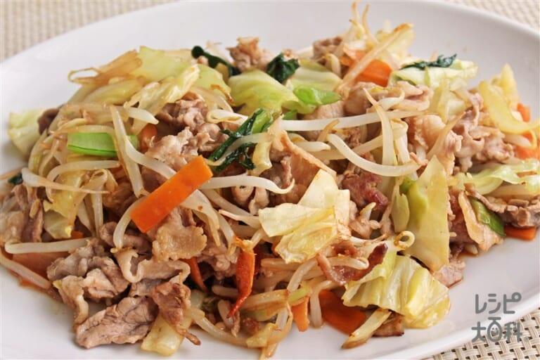 豚肉とカット野菜炒め